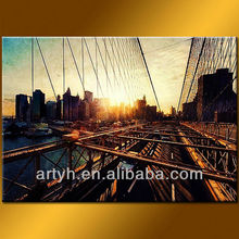 Wall Decor Bridge Painting On Canvas For Living Room