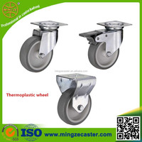 thermoplastic rubber furniture caster wheel with swivel/fixed/brake bracket