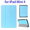 Alibaba China 3-folding Horizontal leather tablet cover for ipad mini 4