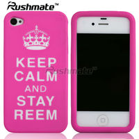 For Apple iphone 4G 4S Laser Design Beautiful Silicone Cover