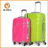 Colorful Aluminum Frame ABS+PC Trolley Luggage Case,High Quality Hard PC Travel Trolley Case 4 Wheels,