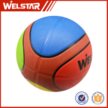 Welstar Customized 12 Panels Colorful Rubber Basketballs BR2816A