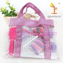 Fashion kids accessories with hair band in handbag