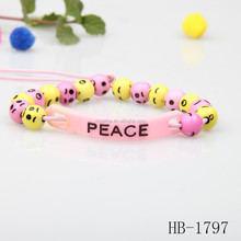 popular style yellow pink bracelet for promotion 2015 children gift