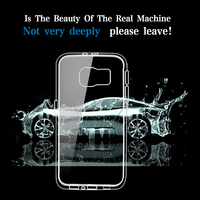 wholesale clear transpare soft TPU phone cover for Samsung galaxy note 5 for S6 case