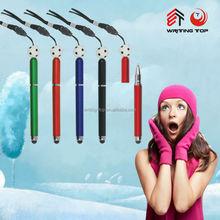 Advertising ball pen stylus with lanyard