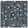 Stone Glass Tile collection-15x15mm clear glass mix stone tile, bath and backsplash glass wall and floor tile ESSZGS096