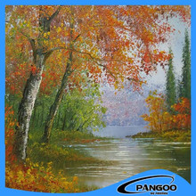 Wholesale Wall Art tree Scenery Oil Painting On Canvas For Home Decor