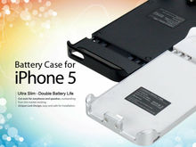 For Apple 5 Accessories, portable battery charger for iPhone5 5s black/white 1900mah