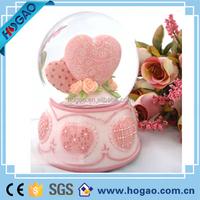 "Wedding Dove Musical Snow Globe Beautiful Porcelain plays ""Wedding March"""