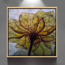 abstract modern simple flower canvas acrylic framed oil painting