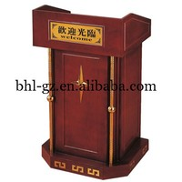 Guangzhou wholesale hotel restaurant supply wooden lectern church podium designs wooden church pulpits T1