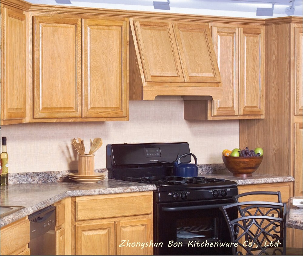 Popular birch solid wood kitchen cabinet buy wood door for Birch kitchen cabinets