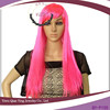 cheap long synthetic hot pink party hair wigs