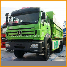 heavy truck 30 tons 6x4 dump truck driving 340 horsepower North benz sale