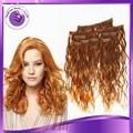 barato no maraña sin derramamiento de clip rizado 22inch en extensiones de cabello en Cabeza llena para cabello barato de humano prebonded americano africano