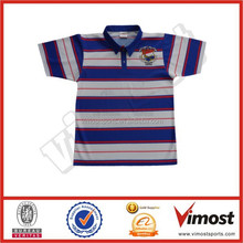 custom polo neck rugby shirts/ dye sublimated durable 100% polyester