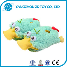 custom indoor use anti-skid animal shaped cat animal slippers