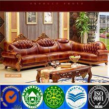 modern simple european style leather sofa combination living room corner leather sofa set chaise lounge