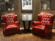 2015 modern leather sofa chair HD234 with crystals in foshan