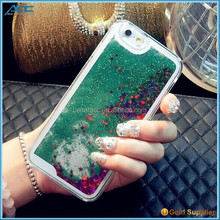 Newest Transparent Plastic Bling 3D Moving Liquid Glitter Star Case For Iphone 6S