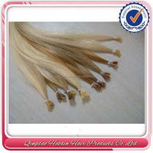 New products nail u-tip hair extentions 6A best blonde virgin hair