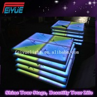 32CH LED dance floor illuminated stage lighting 720pcs*10mm rgb changeable color waterproof outdoor lighting led dance floor