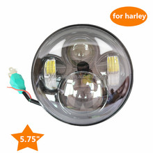 5 3/4 LED Headlight High Low Projector Light, 5.75 Motorcycle Projector 40W Daymarker LED Light Bulb HeadLight DRL For Harley