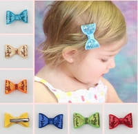 2015 Child hairpins with colroful bow girl hair clip kids baby hairpins high quality