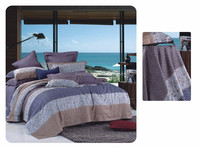 Heniemo,Reactive printing Tribute Silk 4Pcs bedding sets, Include Duvet Cover Bed sheet Pillowcase,King Queen size
