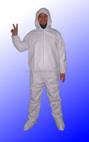 disposable PP+PE clean room smock