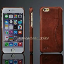 real leather for iphone 6 credit card case genuine leather Bar Phone Case cover new style