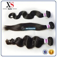 2014 High quality cheap virgin malaysian remy hair hair puff
