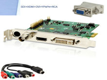 1080p Pcie HDMI Video Capture Express Card with DVI HD-SDI Ypbpr