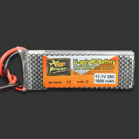 ZOP Power 11.1V 1500MAH 25C Lipo Battery EC3 Plug For RC Quadcopter Drone Helicopter Car Airplane Toy