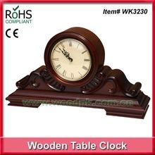 2015 Antique wooden quartz table clock big clock antique home clock