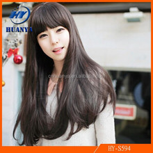 European and American Manufacturers Accusing Bobo Neat Bang Girls Wig Slightly Curled Hot Fluffy Wig