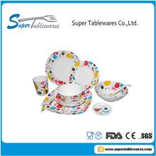 latest china plastic dinner set with popular design