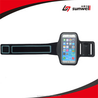 Sports Armband For iPhone 6 Plus 5.5inch Water Resistant + Sweat Proof + Key Holder (Black)