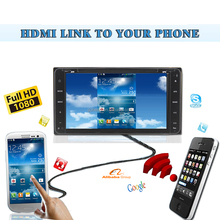 For Toyota universal fit 6 inches HDMI 1080P TV Wireless Link to Phone GPS FM Car DVD Player