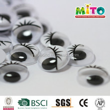 Safe Children toy eyes circle with eyelashes black $ white