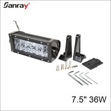 mini waterproof 7 inch 36W 4D optic pod offroad light bar for suv/atv/utv