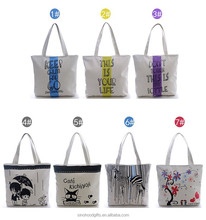2015 Hot Sell Cotton cavas New Trendy Style Durable shopping bag