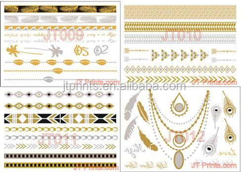 Gold Body Stickers Gold Tattoo Sticker