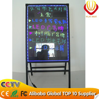 A stand LED writing board DIY led writing board shine in the dark night catching eyes