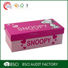 Customize Hot selling Pink socks box with cartoon pattern in shanghai