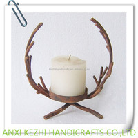 vintage metal branch candle stand