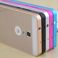 Ultra-thin Aluminum Metal Bumper With Acrylic Back Case for Huawei Ascend Mate 2