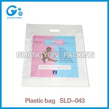 LDPE professional custom printing die cut plastic bag