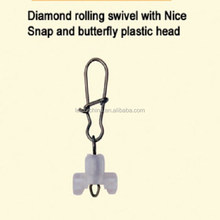 Diamond Rolling Swivel with Nice Snap and Butterfly Plastic Head